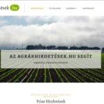 <u>Agrárhirdetések.hu</u> komplett weboldal eladó